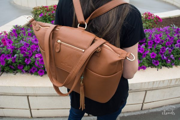 Leather purse for mom | newborn essentials | diaper bag