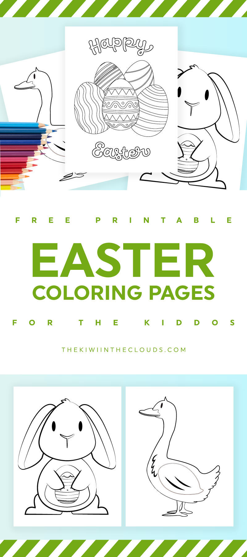 Excellent Easter Printable Coloring Pages For Kids