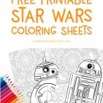 BB-8 and R2-D2 coloring pages with colored pencils