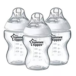 three tommee tippee baby bottles