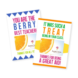 two jamba juice gift card holders for teacher
