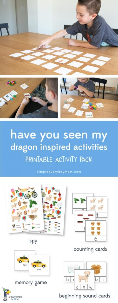 have you seen my dragon book activity | printables for kids | learning games for kids