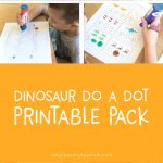 do a dot printables | dinosaur activities | learning activities