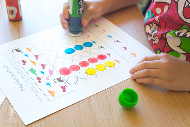 do a dot marker activities | kindergarten graphing | learning activities for kids