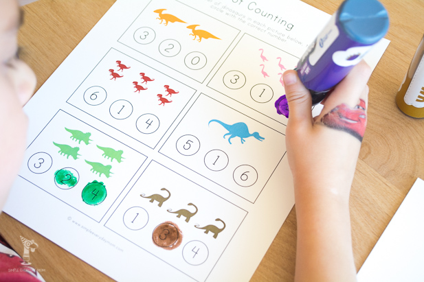 do a dot worksheets | dinosaur activities for kids