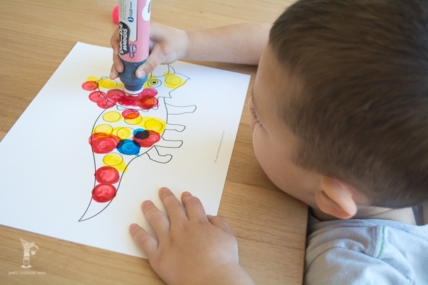 do a dot coloring page | art for kids | kids printables