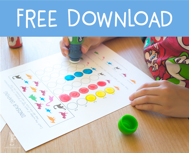 free do a dot printables | dinosaur activity