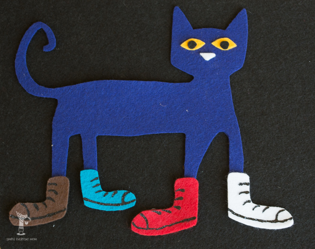 felt pete the cat pattern