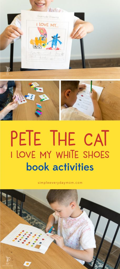 children's book activities | pete the cat | printables for kids