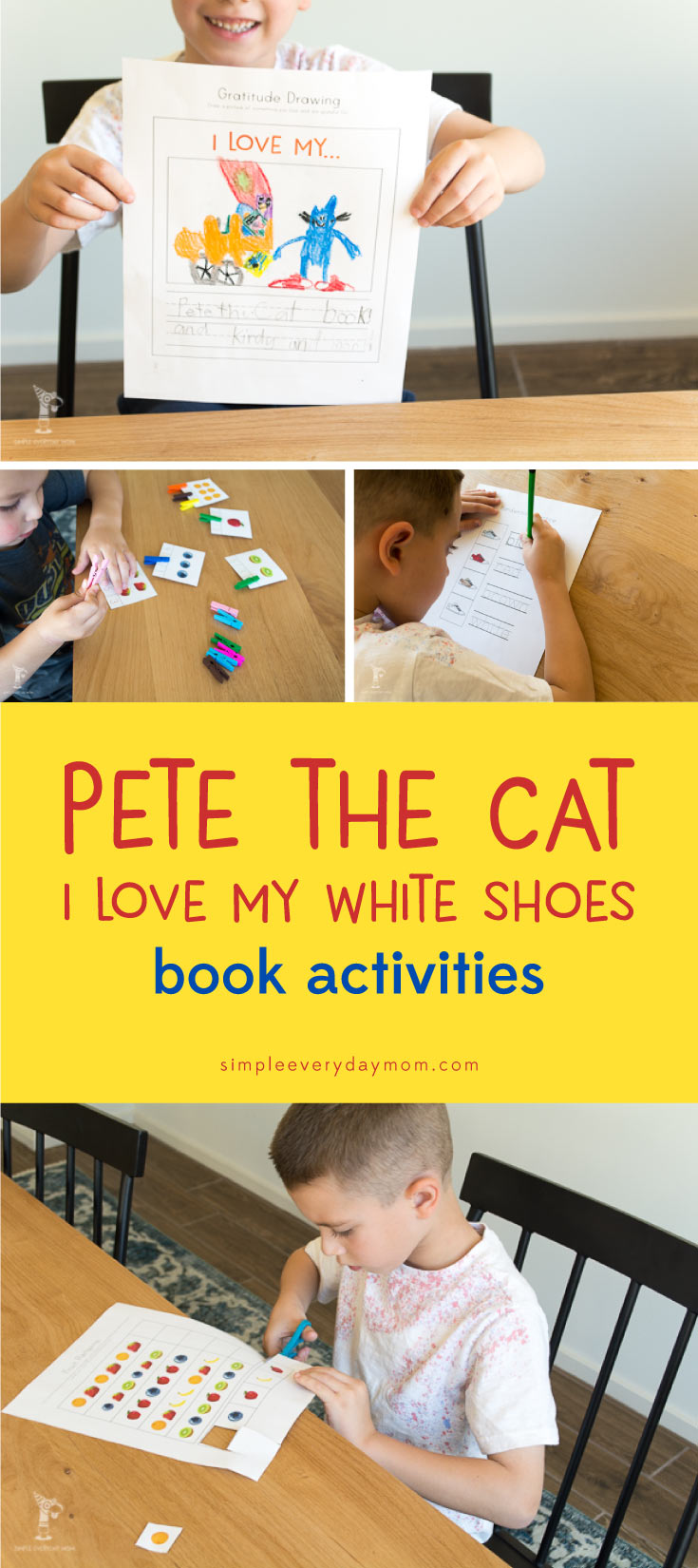 pete the cat activities | childrens books | printables for kids