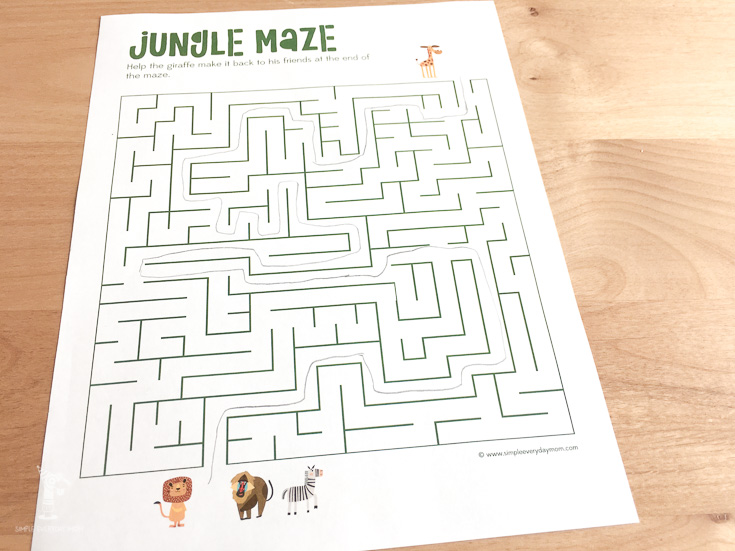 printable maze puzzle for kids | giraffes cant dance ideas