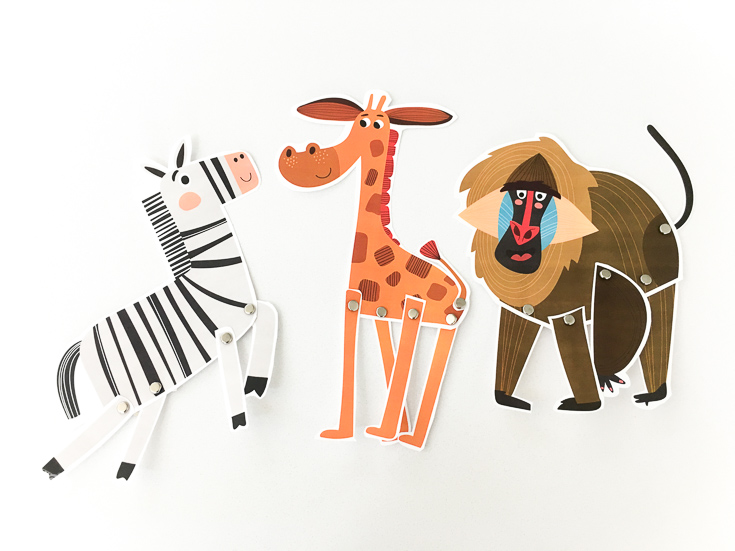 These printable animal puppets for kids are a simple activity to encourage open ended play!