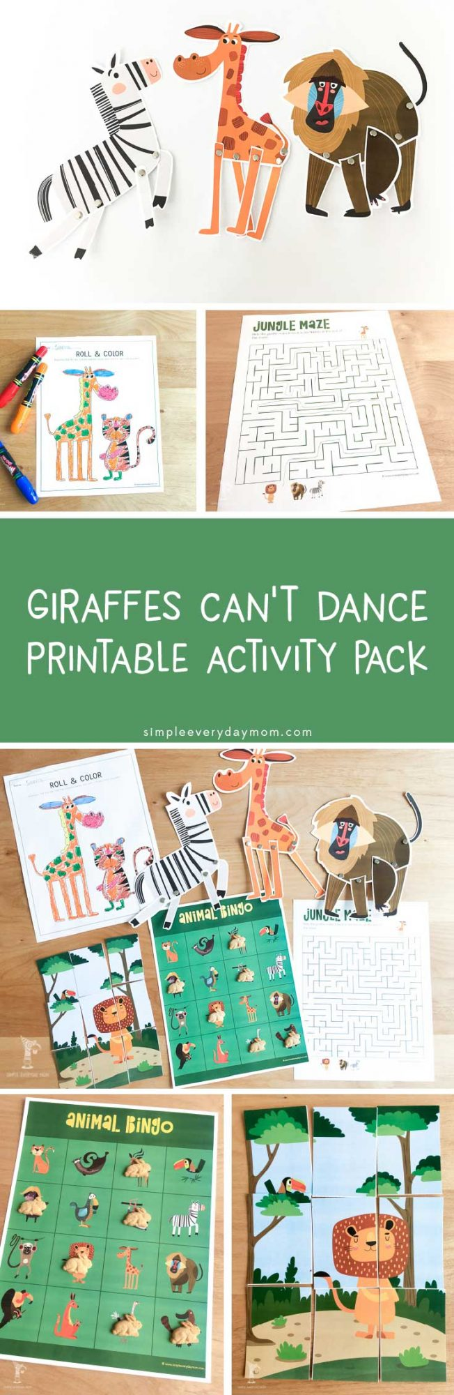 Giraffes Can't Dance Activities | Kids will love these book activities that encourage creativity and are so much fun to do.
