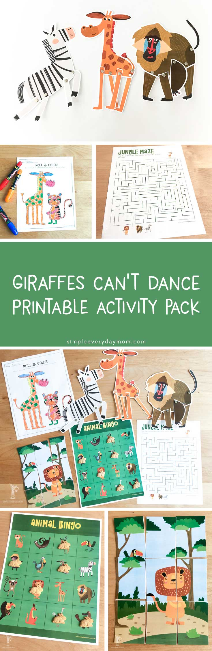 giraffes cant dance activities | Kids will love these book activities that encourage creativity and are so much fun to do.
