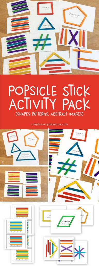 Give your kids a fun, low prep activity with these printable popsicle stick activities. My toddler and 6 year old both had so much fun doing these activities! They're great for busy bags or for classrooms.