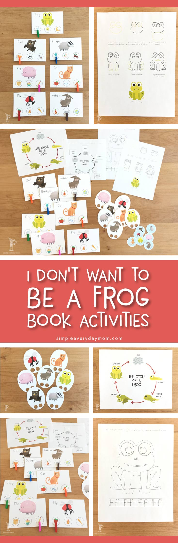I Don't Want To Be A Frog Book Activities | Kids love these activities because they're so fun and moms love them because they're educational and easy to implement.