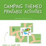 Camping printables for kids   Give yourself some quiet time while your kids strengthen their creativity. They're great for kindergarten , preschool and more.