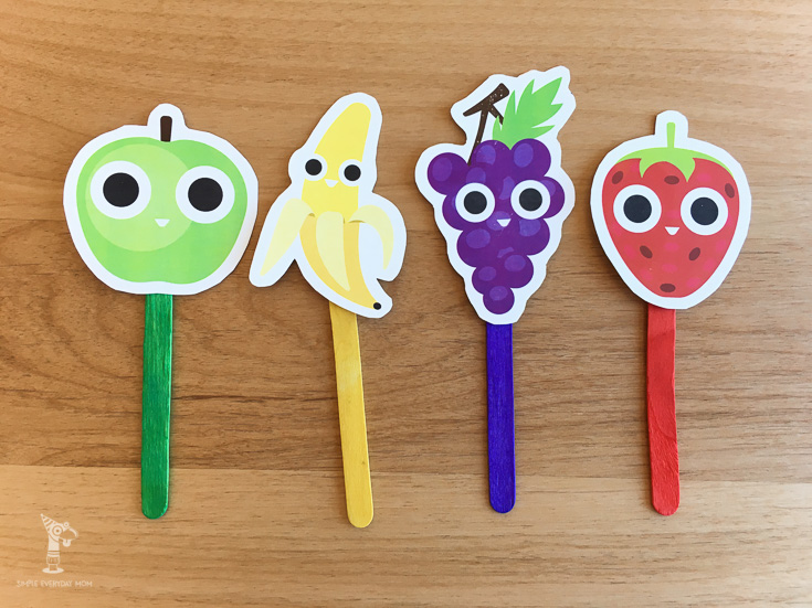 printable puppets | fruit activities | pretend play