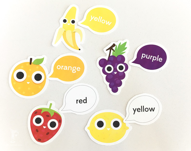 color matching | fruit activities | teach colors