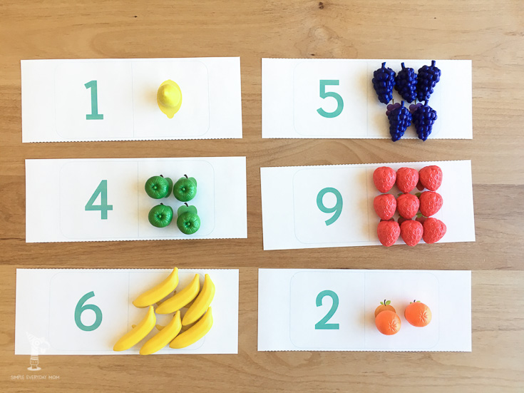 teach numbers to toddlers | fruit activities | printable