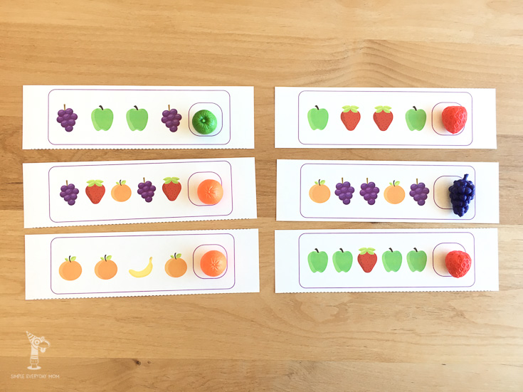 pattern printable for kids | fruit activities