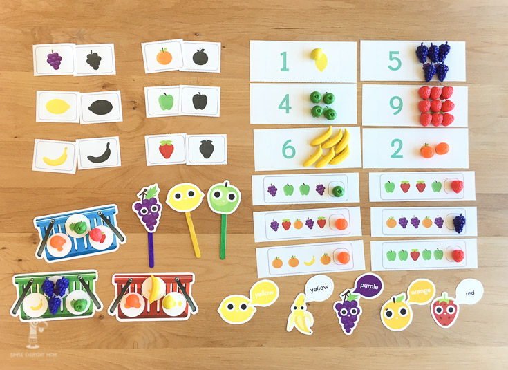 fruit activities for kids | printable preschool activities