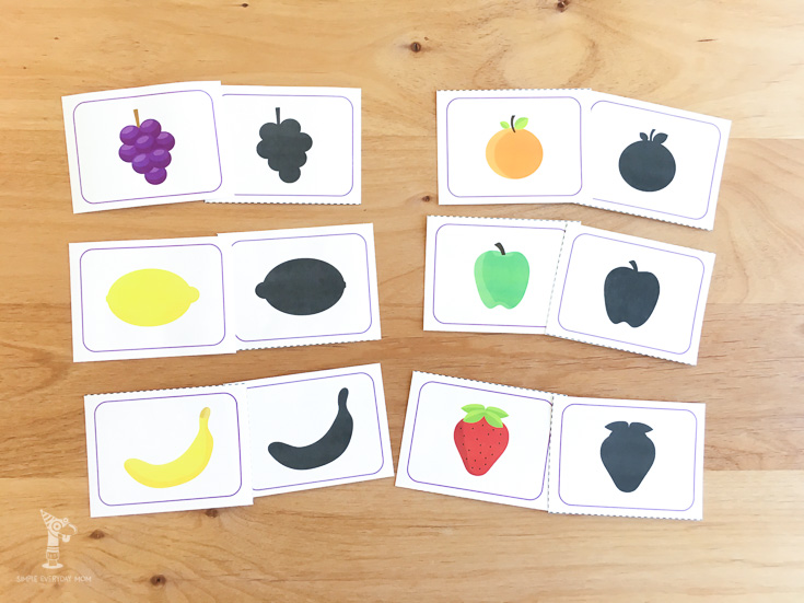 silhoutte kids | fruit activities
