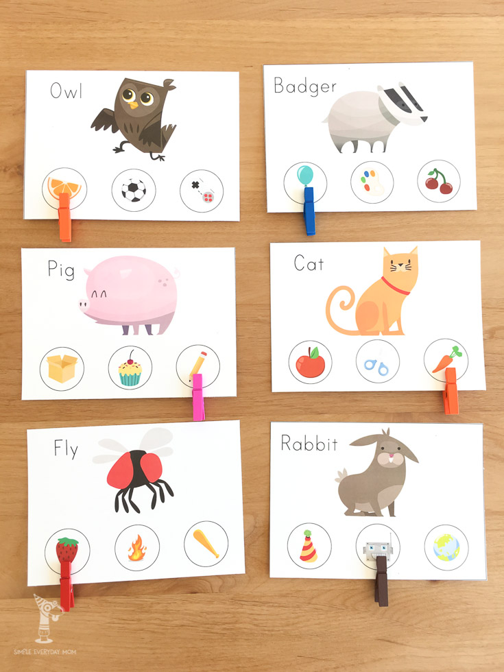 Free printable learning activity for kids   beginning sounds letter cards
