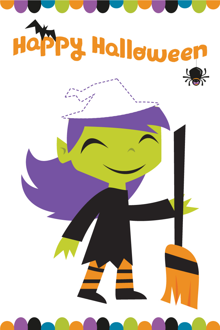 halloween games for kids | pin the hat on the witch game