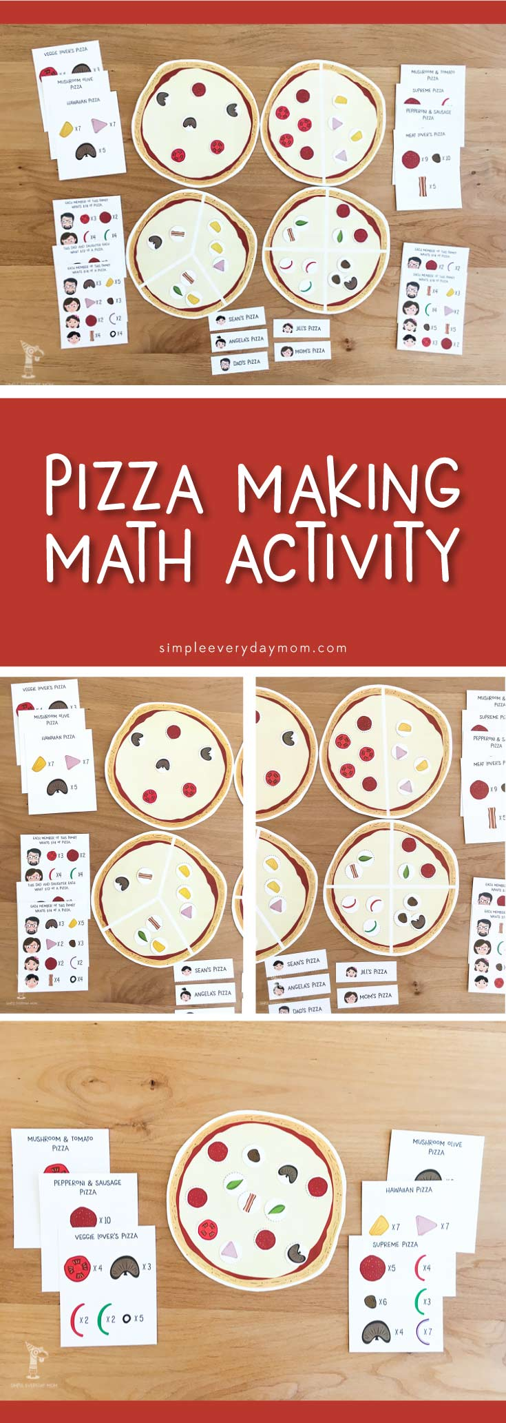 Kids of all ages will love these pizza activities for kids. Teach your child the ideas of matching, counting, fractions and how to follow directions in a fun and engaging way.