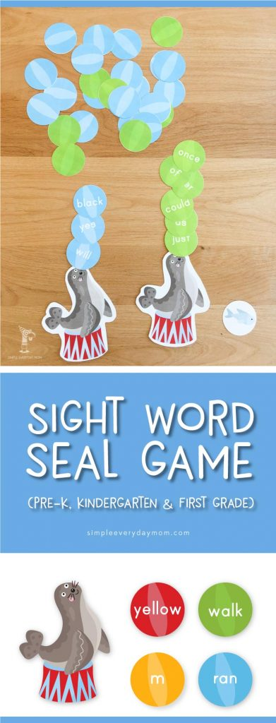 sight word game for preschool, kindergarten, first grade | printable learning activities for kids