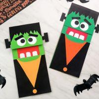 Brown Paper Bag Frankenstein Craft