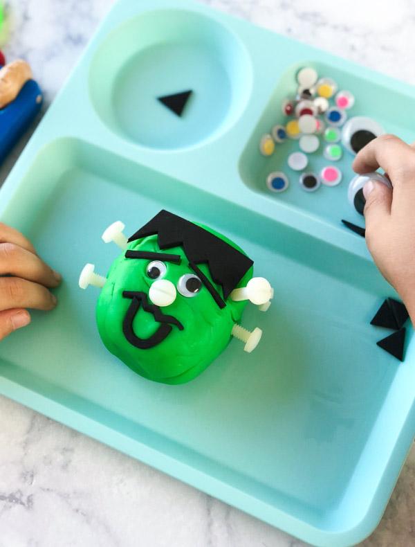halloween play dough for kids