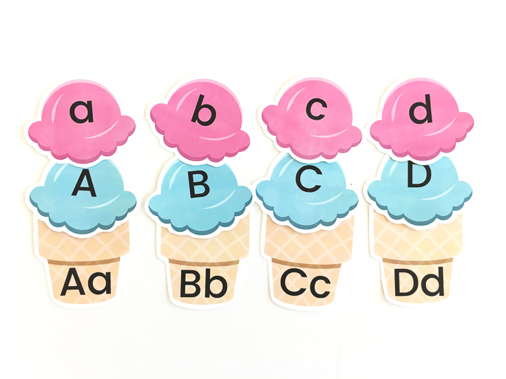 ice cream letter recognition game
