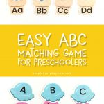 teach abcs to toddler | Have fun to your kids the alphabet with this printable ABC letter match game. Kids love the ice cream and will love learning the alphabet.