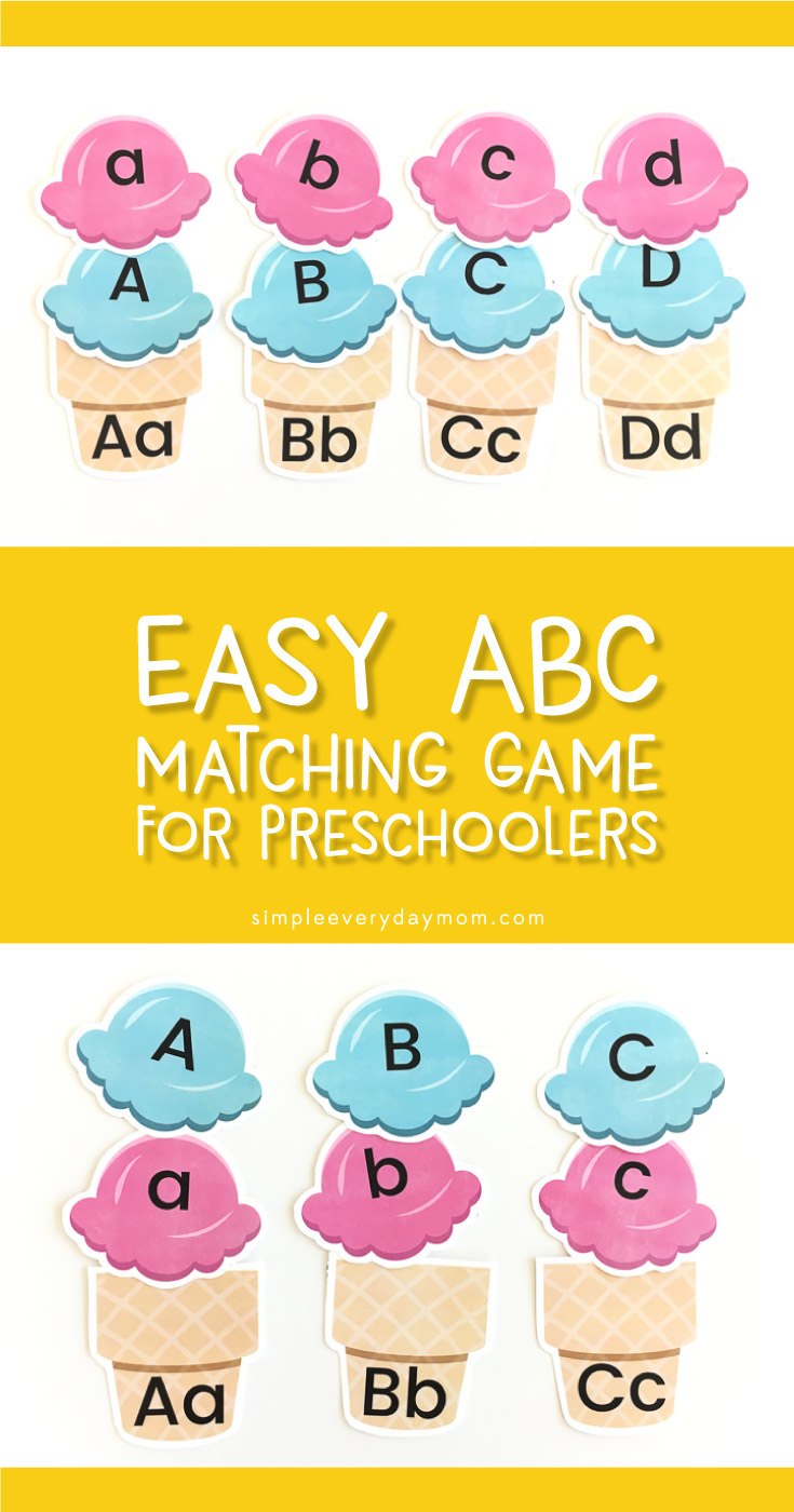 Ice Cream Letter Recognition Game For Preschoolers