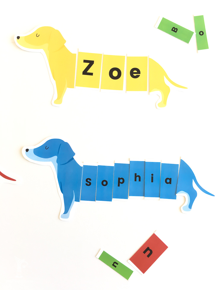 preschool name activity free printable