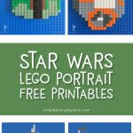 Star Wars Lego Mosaic | Kids bored? They'll love these fun Star Wars printables that show them how to create 2 of their favorite characters, BB-8 and Boba Fett. It's a great activity for whenever boredom strikes!