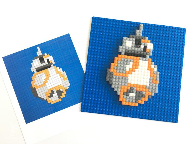 Build your own BB-8 Lego mosiac   Star Wars kids ideas