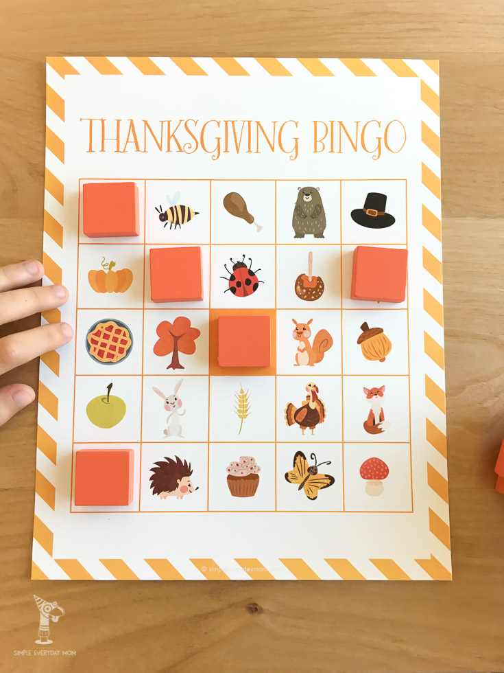 thanksgiving bingo for kids | Celebrate the holiday season as a family with this fun Thanksgiving bingo game