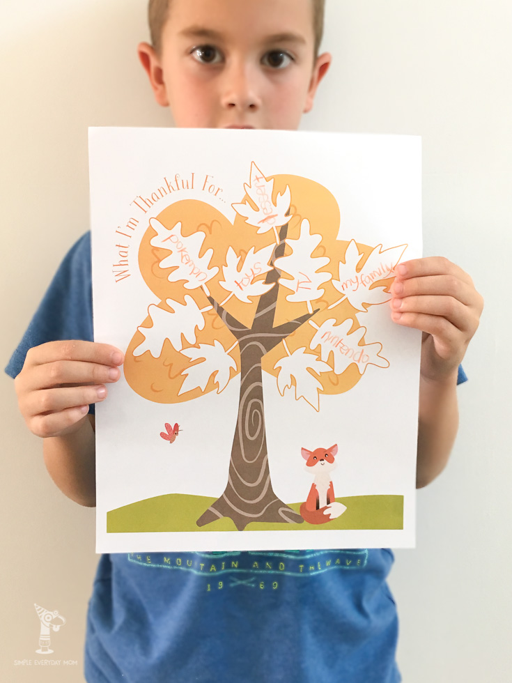 thanksgiving gratitude activity tree