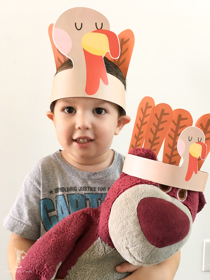 turkey headband craft for kids