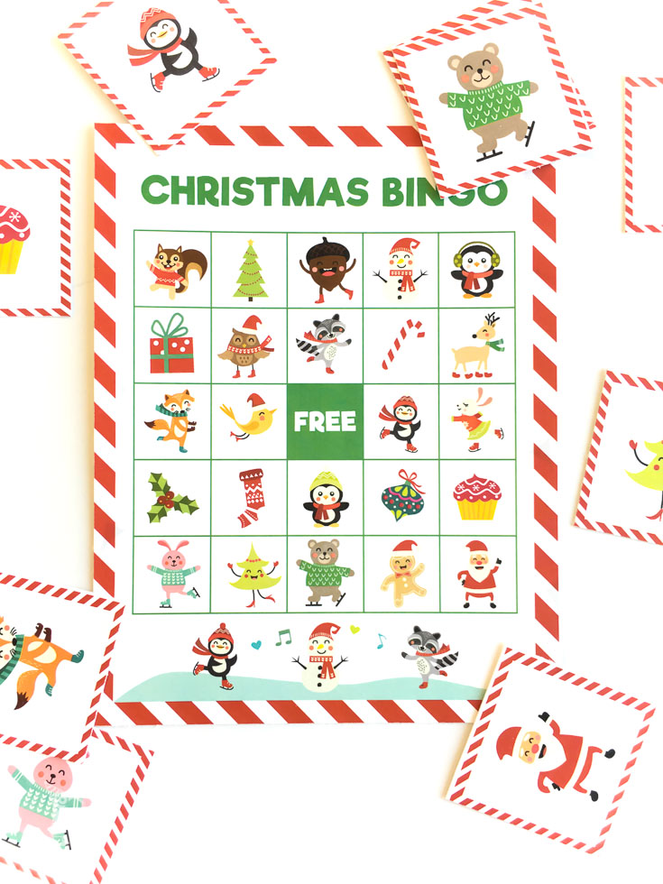 Christmas bingo printable | holiday games for kids |