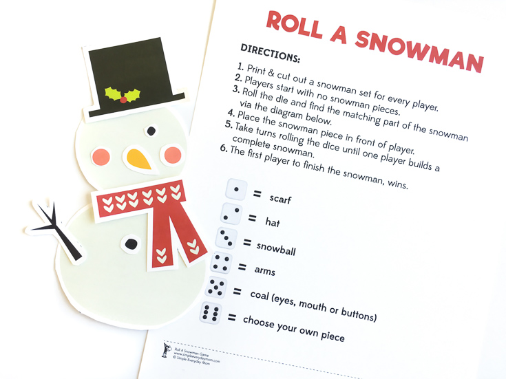 Roll A Snowman Game For Kids | Christmas game | Winter Game