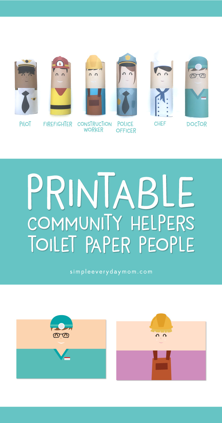 Toilet paper roll crafts community helpers