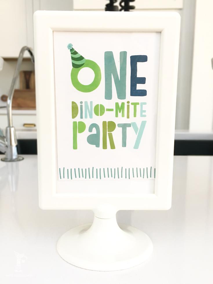 dinosaur party printables | boys birthday ideas