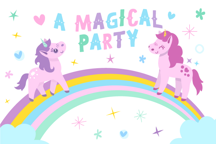 unicorn party | dessert table poster | printable parties