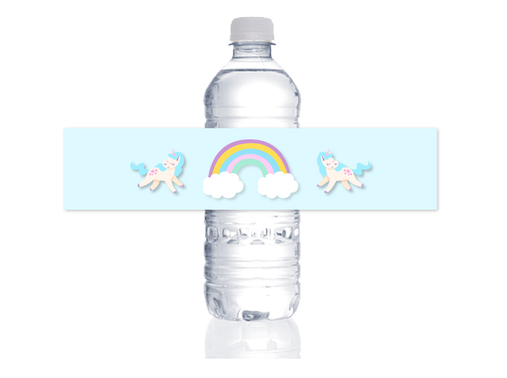 unicorn birthday party | water bottle labels