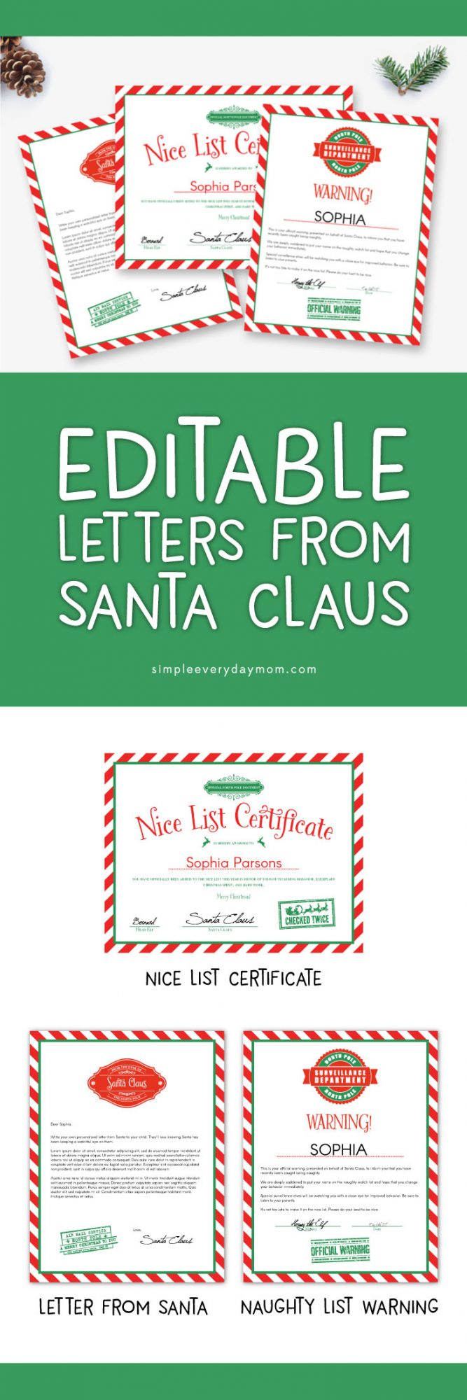 image regarding Printable Letters From Santa referred to as Employ This sort of Editable Letters Towards Santa For A Magical Xmas