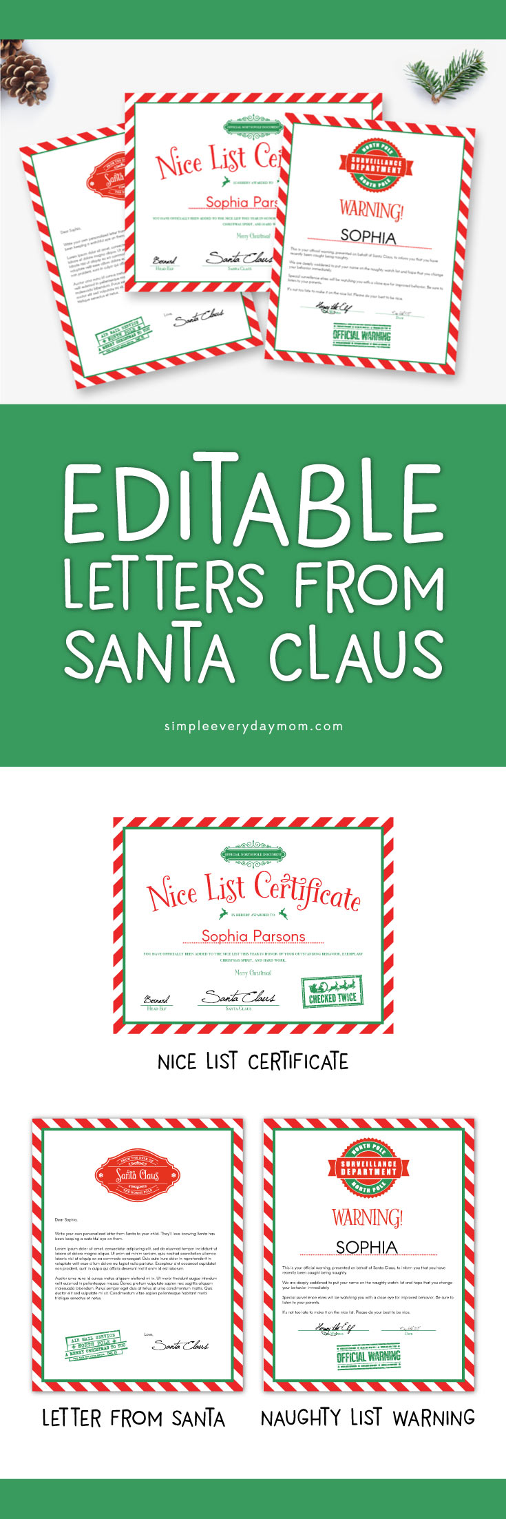 Use These Editable Letters From Santa For A Magical Christmas